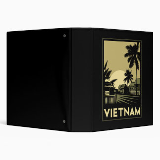 "viaje retro del art déco de Vietnam Asia sudorient Carpeta 1 1/2"""