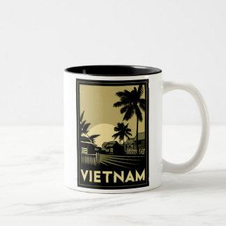 viaje retro del art déco de Vietnam Asia sudorient Taza