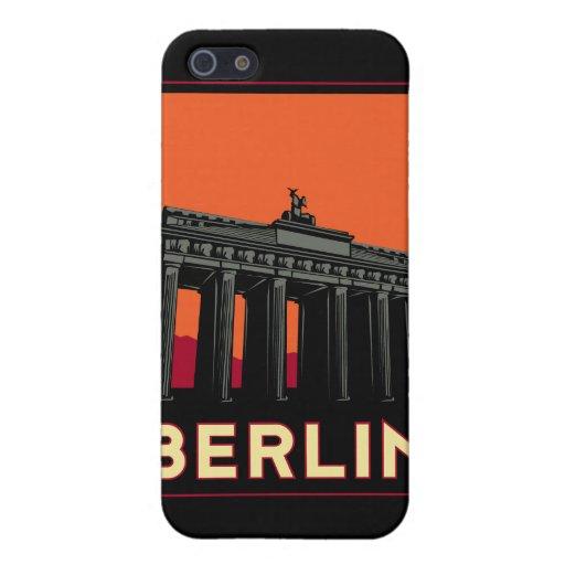 viaje retro del art déco más oktoberfest de Berlín iPhone 5 Fundas