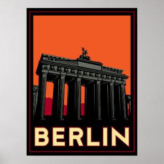 viaje retro del art déco más oktoberfest de Berlín Póster