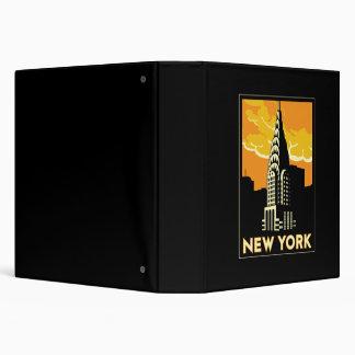 """viaje retro del vintage de Nueva York Estados Unid Carpeta 1 1/2"""""""