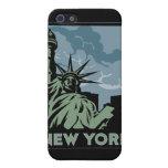 viaje retro del vintage de Nueva York Estados Unid iPhone 5 Coberturas