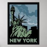 viaje retro del vintage de Nueva York Estados Unid Impresiones