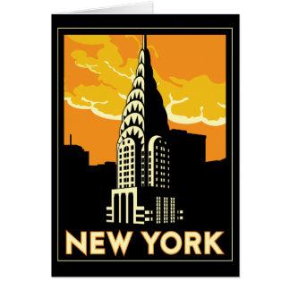 viaje retro del vintage de Nueva York Estados Unid Felicitaciones