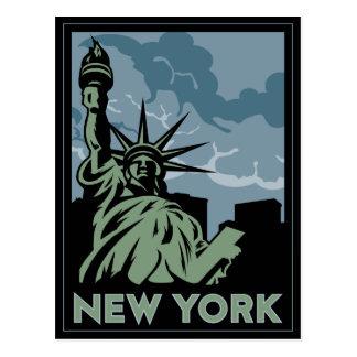 viaje retro del vintage de Nueva York Estados Unid Postales
