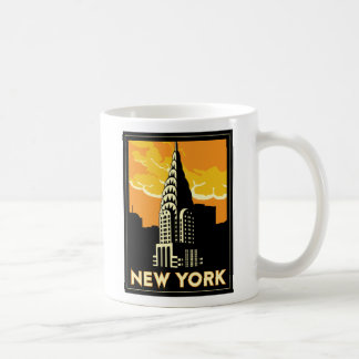 viaje retro del vintage de Nueva York Estados Unid Taza