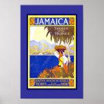 Viaje retro Jamaica de la imagen del vintage de la Posters