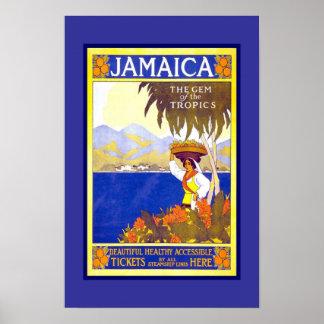 Viaje retro Jamaica de la imagen del vintage de la Póster