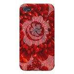Viaje rojo de la flor - mundo de la adoración de l iPhone 4/4S carcasa