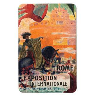 Viaje Roma Italia del vintage - Imanes De Vinilo