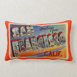 Viaje San Francisco del vintage Cojín