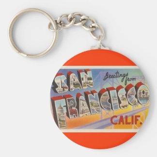Viaje San Francisco del vintage Llavero Redondo Tipo Pin