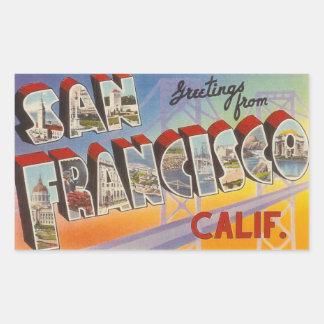 Viaje San Francisco del vintage Pegatina Rectangular