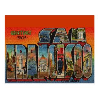 Viaje San Francisco del vintage Tarjeta Postal