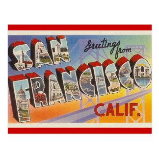 Viaje San Francisco del vintage Postal