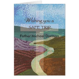 Viaje seguro del deseo conocido de encargo, tarjeta de felicitación