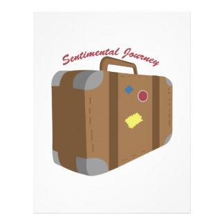 Viaje sentimental membrete personalizado