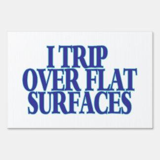 Viaje sobre superficies planas carteles