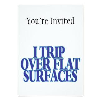"""Viaje sobre superficies planas invitación 5"""" x 7"""""""