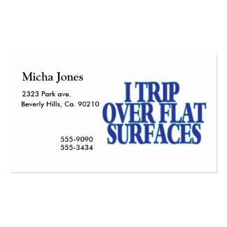 Viaje sobre superficies planas plantilla de tarjeta personal