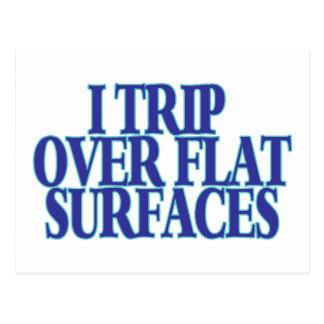Viaje sobre superficies planas tarjetas postales