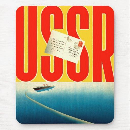 Viaje soviético del kitsch retro del vintage al ar tapetes de ratones