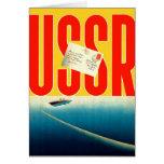 Viaje soviético del kitsch retro del vintage al ar tarjetas
