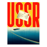 Viaje soviético del kitsch retro del vintage al postal