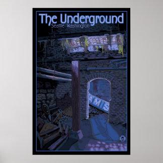 Viaje subterráneo - cuadrado pionero, poster de Se