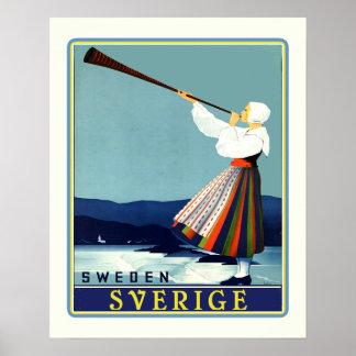 Viaje Sverige del sueco Póster