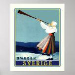 Viaje Sverige del sueco Posters
