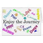 viaje tarjeta de felicitación