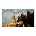 Viaje - tarjeta de visita de oro de la pagoda