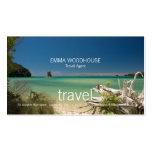 Viaje - tarjeta de visita del mar del sur