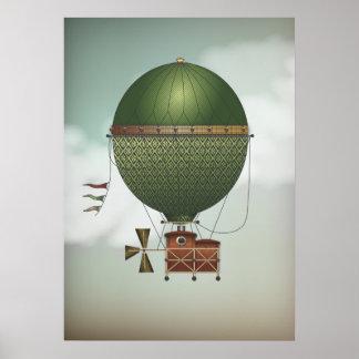 Viaje tempestuoso de Citronnier el   Steampunk del Posters