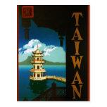 Viaje torre con gradas de la pagoda de Asia, Taiwá Tarjeta Postal
