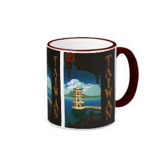 Viaje torre con gradas de la pagoda de Asia, Taza De Dos Colores