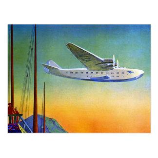 Viaje transpacífico del vintage tarjeta postal
