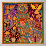 Viaje tribal maya mexicano de Boho del arte de