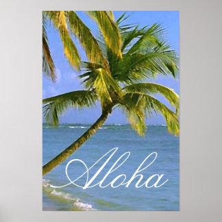 Viaje tropical de las palmeras hawaianas de la póster