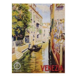 Viaje Venecia, Italia del vintage - Tarjeta Postal