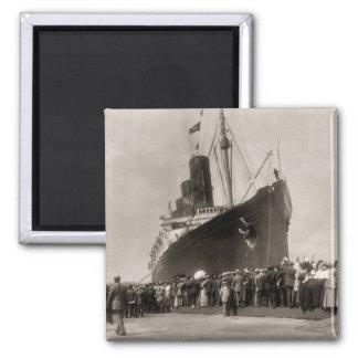 Viaje virginal del Lusitania 13 Septemeber 1907 de Imán Cuadrado