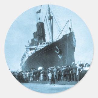Viaje virginal del Lusitania del RMS, 13 Pegatina Redonda