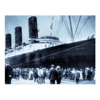 Viaje virginal del Lusitania del RMS, 13 Postal