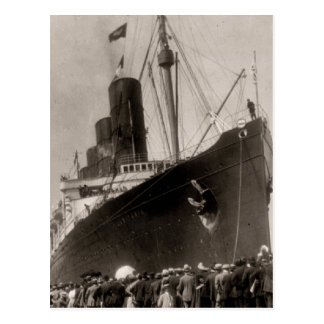 Viaje virginal del Lusitania del RMS, 13 Tarjeta Postal