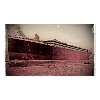 Viaje virginal del RMS titánico Tarjetas De Visita