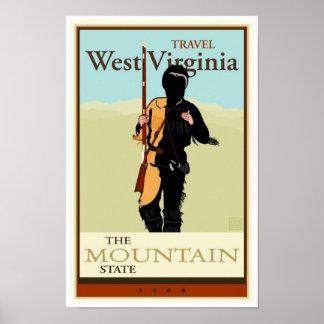 Viaje Virginia Occidental Póster