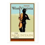 Viaje Virginia Occidental Tarjeta Postal