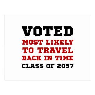 Viaje votado del tiempo postales