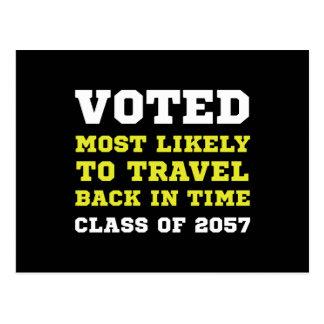 Viaje votado del tiempo tarjetas postales